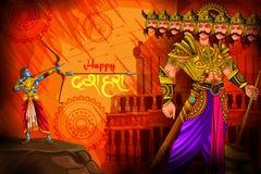 Gelukkige Dussehra-achtergrond die festival van India tonen vector illustratie