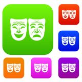 Gelukkige en droevige masker vastgestelde inzameling Royalty-vrije Stock Foto's