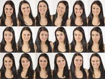Gelukkige en het lachen gezichten Stock Fotografie