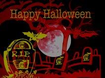 Gelukkige Enge zombiehand Halloween 2018 royalty-vrije illustratie