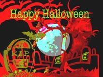 Gelukkige Enge zombiehand Halloween 2018 stock illustratie