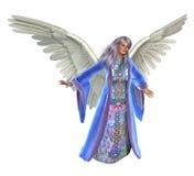 Gelukkige Engel - op wit royalty-vrije illustratie