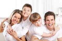 Gelukkige familie Stock Foto