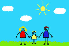 Gelukkige familie Stock Illustratie