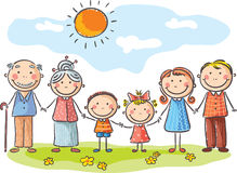 Gelukkige Familie royalty-vrije illustratie