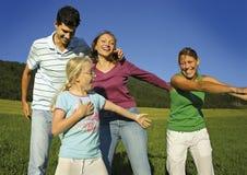 Gelukkige familie 8 stock foto