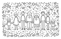 Gelukkige familie-13 stock illustratie