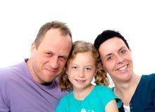 Gelukkige familie met één dochter Stock Foto