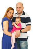 Gelukkige familie met baby Stock Afbeeldingen