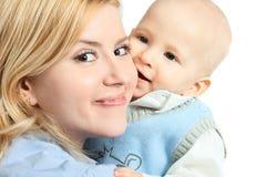 Gelukkige familie - moeder en baby royalty-vrije stock afbeeldingen