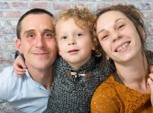 Gelukkige familie, moeder, vader, kind Stock Afbeelding
