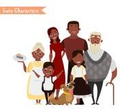 Gelukkige familie op de witte achtergrond Stock Afbeelding