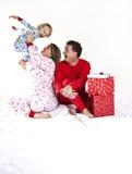 Gelukkige Familie op Kerstmis royalty-vrije stock foto's