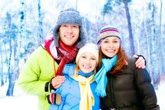 Gelukkige Familie in openlucht Royalty-vrije Stock Afbeelding