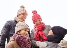Gelukkige familie in openlucht Stock Afbeelding