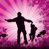 Gelukkige familie, vector Stock Foto