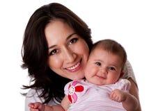 Gelukkige familiemoeder en dochter Stock Foto's
