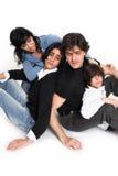 Gelukkige familietijd Stock Foto's