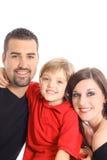 Gelukkige familieverticaal Stock Afbeeldingen