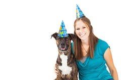 Gelukkige Feestvarken en Hond Royalty-vrije Stock Foto