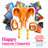 Gelukkige Ganesh Chaturthi-verkoopaanbieding Stock Foto