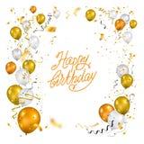 Gelukkige geïsoleerde verjaardag vector illustratie
