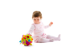 Gelukkige geïsoleerdet baby Royalty-vrije Stock Afbeelding