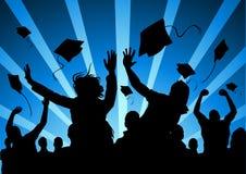 Gelukkige Gediplomeerde Studenten Stock Afbeelding