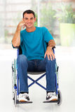 Gehandicapte mensenrolstoel Stock Foto