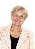 Gelukkige gepensioneerde hogere vrouw royalty-vrije stock afbeeldingen