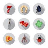 Gelukkige geplaatste symbolenpictogrammen Stock Fotografie