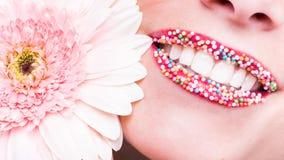 Gelukkige glimlach, gezonde witte tanden, lach Royalty-vrije Stock Fotografie