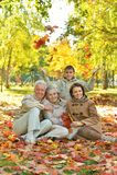 Gelukkige glimlachende familie Royalty-vrije Stock Fotografie