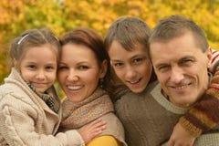 Gelukkige glimlachende familie Stock Foto's