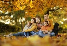 Gelukkige glimlachende familie Stock Foto