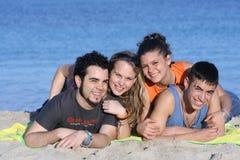 Gelukkige glimlachende groep royalty-vrije stock afbeelding