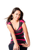 Gelukkige glimlachende jonge vrouw Royalty-vrije Stock Fotografie