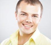 gelukkige glimlachende mens, royalty-vrije stock afbeeldingen