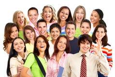 Gelukkige glimlachende mensen Stock Foto's