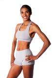 Gelukkige glimlachende vrouwelijke atleet Royalty-vrije Stock Foto