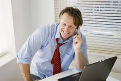 Gelukkige glimlachende zakenman Stock Afbeeldingen