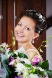 Gelukkige grappige bruid Stock Afbeelding