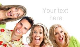Gelukkige grappige mensen Royalty-vrije Stock Foto