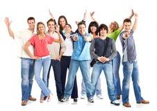 Gelukkige grappige mensen Stock Foto