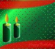 Gelukkige groeneachtergrond BirthdayStock Fotografie