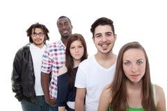 Gelukkige groep jonge en verse mensen royalty-vrije stock fotografie