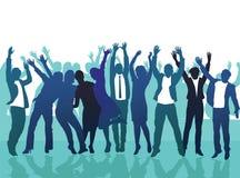 Gelukkige groep mensen vector illustratie