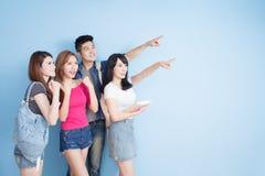 Gelukkige groepsstudent royalty-vrije stock foto's