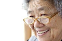 Gelukkige grootmoeder Royalty-vrije Stock Afbeeldingen