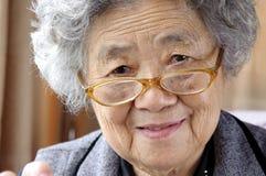 Gelukkige grootmoeder royalty-vrije stock fotografie